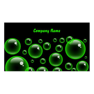 Green Bubbles, Company Name Business Cards