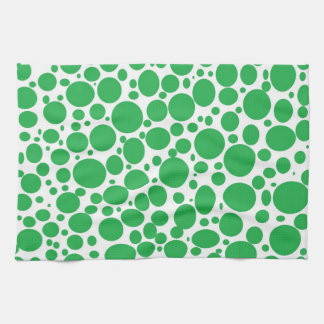 Green Bubbles Kitchen Towel