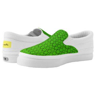 GREEN BUBBLES LOW CUT SHOE