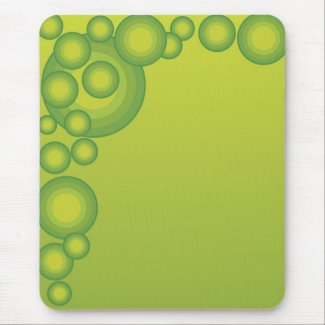 Green Bubbles Mouse Pad