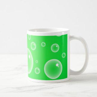 Green Bubbles Mugs