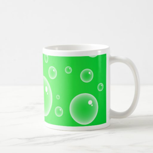 Green Bubbles Mugs