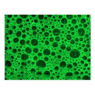 Green Bubbles Postcard