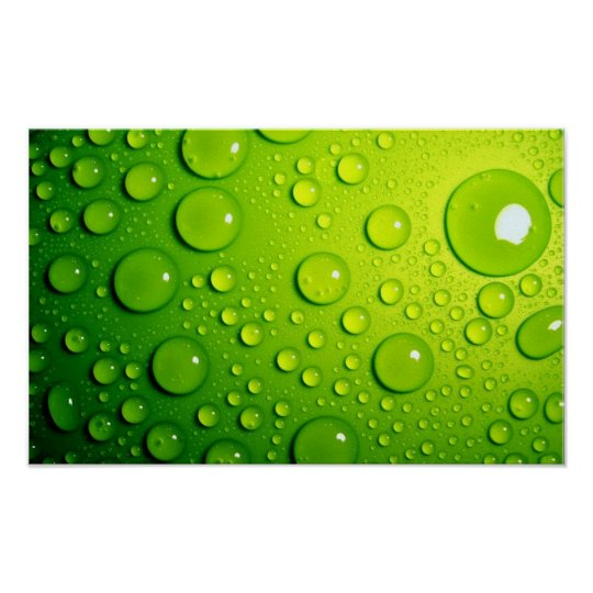 Green Bubbles Poster