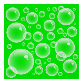 Green Bubbles Posters