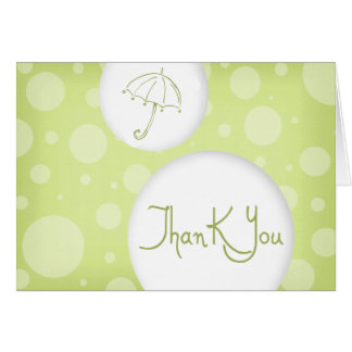 green bubbles thank you cards
