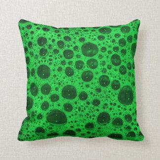 Green Bubbles Throw Pillow