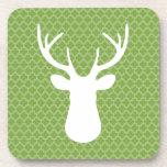 Green Buck Deer Coaster Set