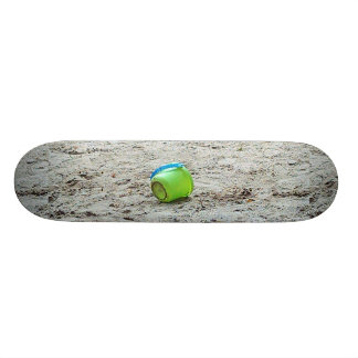 Green Bucket in Sand Beach, Summer Fun Skateboard