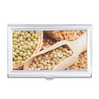 Green Buckwheat, Wheat, Oat And Mung - Cereal Business Card Holder