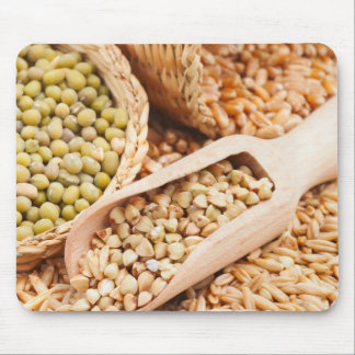 Green Buckwheat, Wheat, Oat And Mung - Cereal Mouse Pads