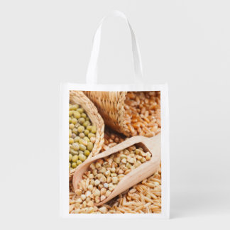 Green Buckwheat, Wheat, Oat And Mung - Cereal Reusable Grocery Bag