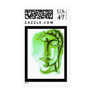 "GREEN BUDDHA, 2.1"" x 1.3"", $0.47 (1st Class 1oz) Postage"