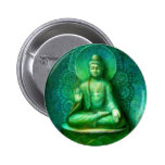 Green Buddha Button