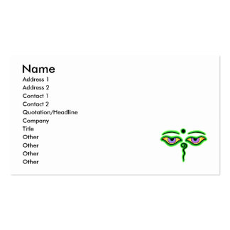 Green Buddha Eyes.png Business Card