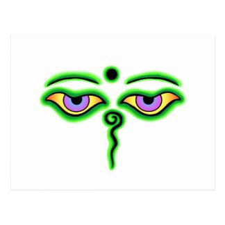 Green Buddha Eyes.png Postcard