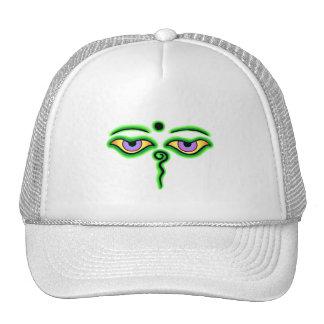 Green Buddha Eyes.png Trucker Hat