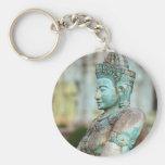 Green Buddha statue Cambodia Keychains