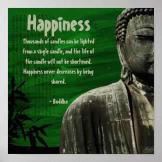 Green Buddha Statue Square Poster Customizable