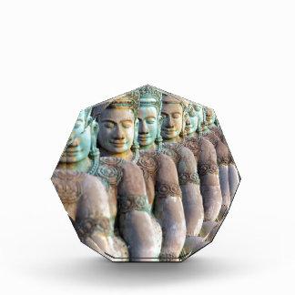 Green Buddha statues Siem Reap Cambodia Award