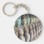 Green Buddha statues Siem Reap Cambodia Key Chain