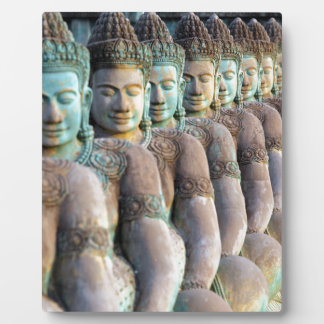 Green Buddha statues Siem Reap Cambodia Plaque