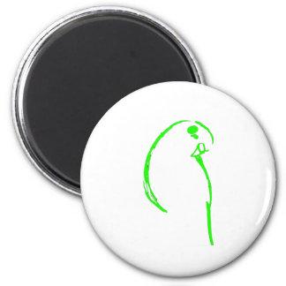 Green Budgie 2 Inch Round Magnet