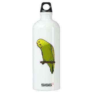 Green Budgie Aluminum Water Bottle