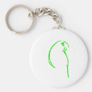 Green Budgie Keychain