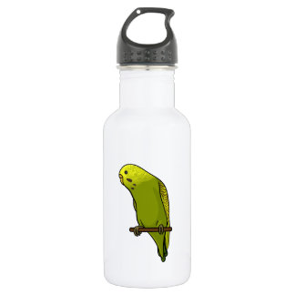 Green Budgie Stainless Steel Water Bottle