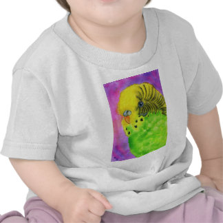 Green Budgie T Shirts