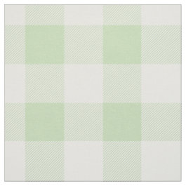 Green Buffalo Check Pattern Fabric