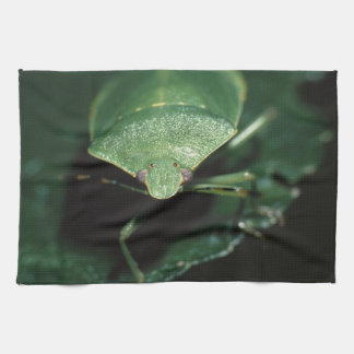 green bug hand towel