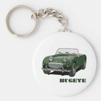 Green Bugeye Basic Round Button Keychain