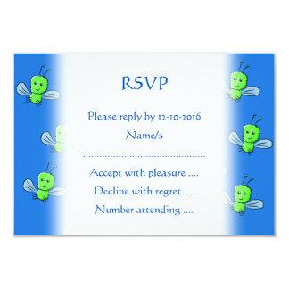 Green Bugs Pattern 3.5x5 Paper Invitation Card