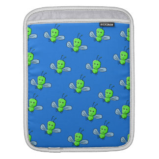 Green Bugs Pattern Sleeves For iPads