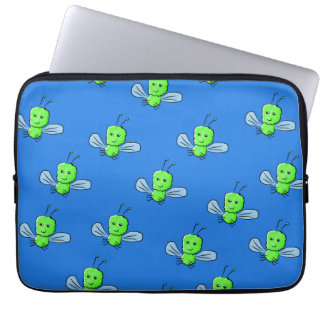 Green Bugs Pattern Computer Sleeves
