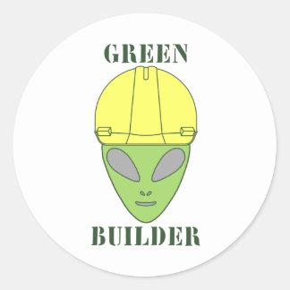 Green Builder Classic Round Sticker