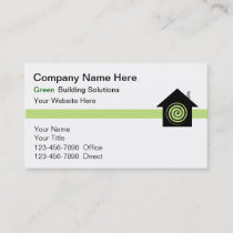 Green Building Business Cards