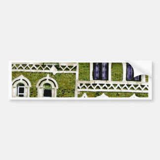 green building detail bumper stickers
