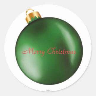 Green Bulb Ornament Sticker