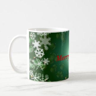 Green bulb/Snowflake mug