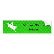 Green Bull Rider Bumper Sticker
