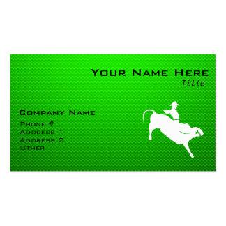 Green Bull Rider Business Card
