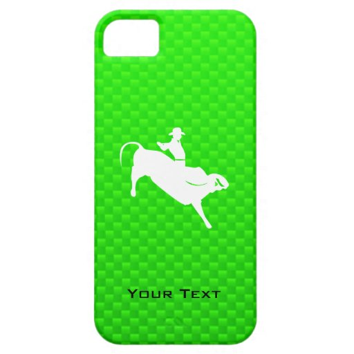 Green Bull Rider iPhone 5 Cases