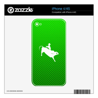 Green Bull Rider Skins For iPhone 4S