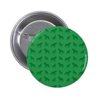Green bulldog pattern pins