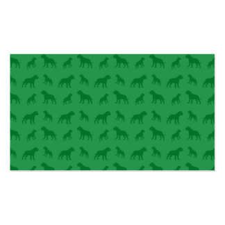 Green bulldog pattern Double-Sided standard business cards (Pack of 100)