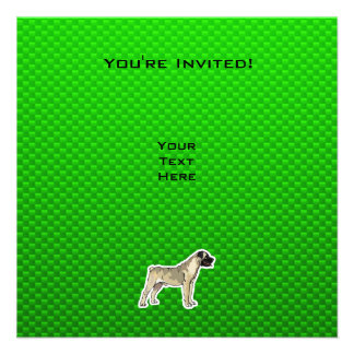 Green Bullmastiff Personalized Announcement