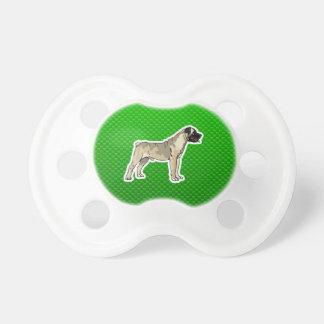 Green Bullmastiff Pacifiers